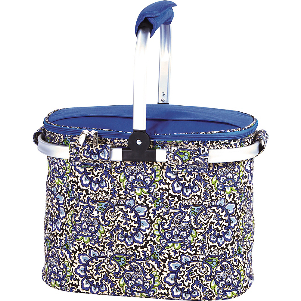 Picnic Plus Shelby Collapsible Market Cooler Tote English Paisley - Picnic Plus Outdoor Coolers
