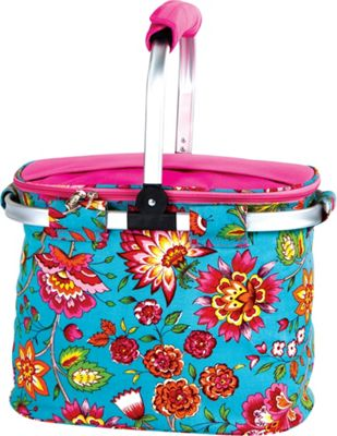 Picnic Plus Shelby Collapsible Market Cooler Tote Madeline Turquoise - Picnic Plus Outdoor Coolers