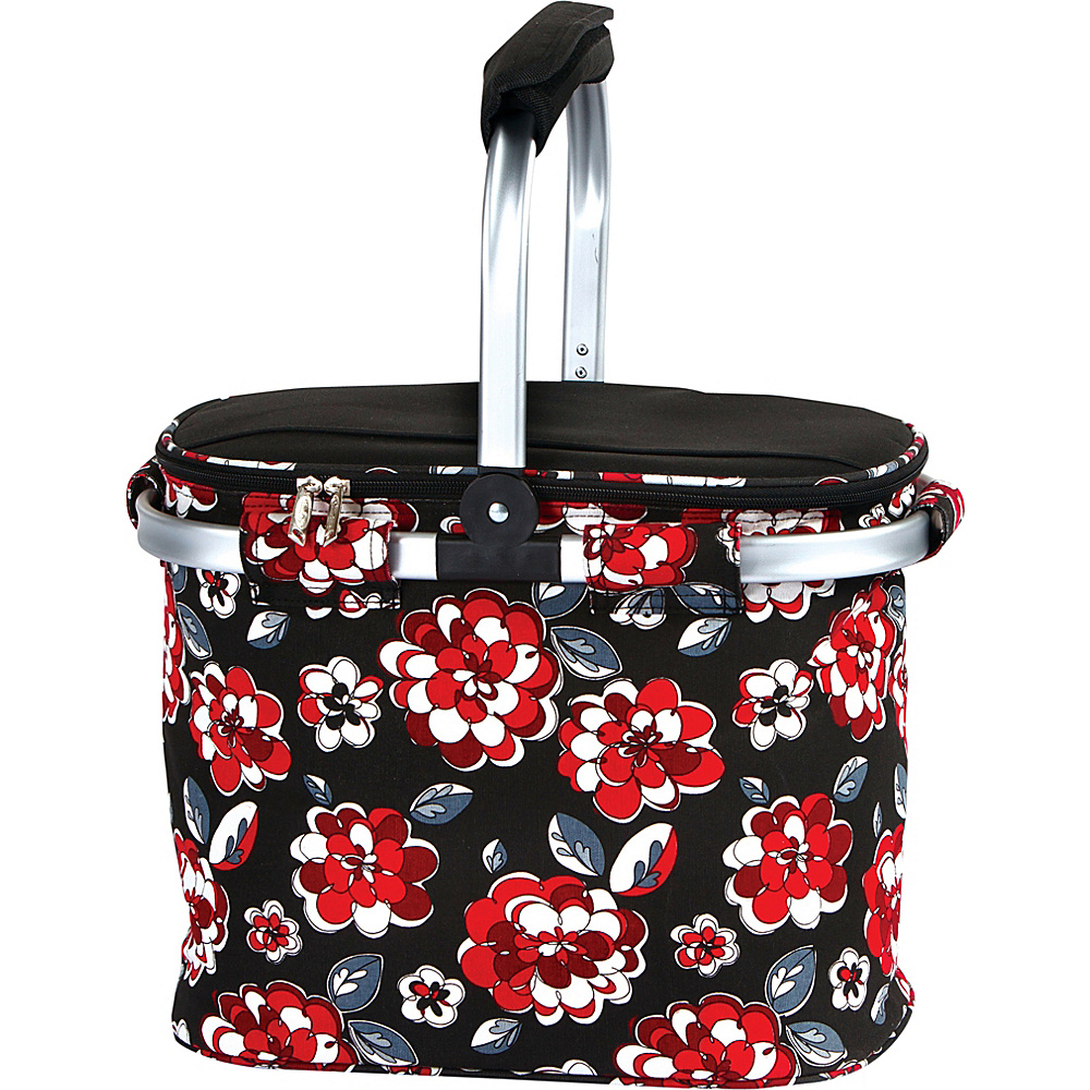 Picnic Plus Shelby Collapsible Market Cooler Tote Red Carnation - Picnic Plus Outdoor Coolers