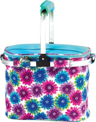 Picnic Plus Shelby Collapsible Market Cooler Tote Blue Blossom - Picnic Plus Outdoor Coolers