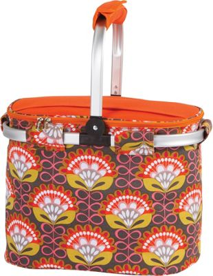 Picnic Plus Shelby Collapsible Market Cooler Tote Orange Martini - Picnic Plus Outdoor Coolers