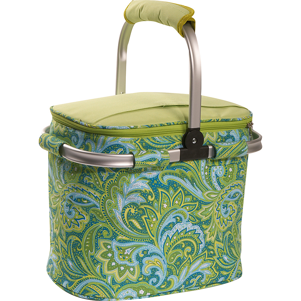 Picnic Plus Shelby Collapsible Cooler - Green Paisley - Outdoor, Outdoor Coolers