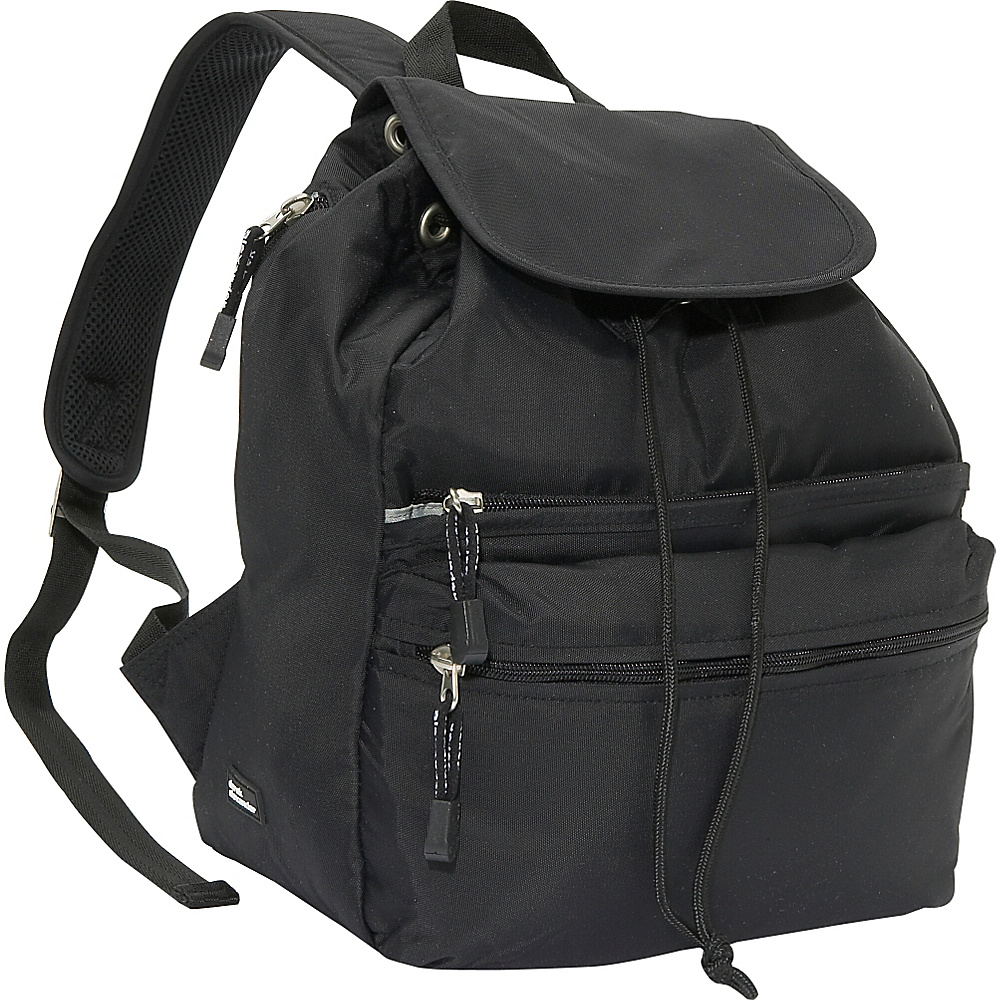 Derek Alexander Medium Backpack - Black - Backpacks, Everyday Backpacks