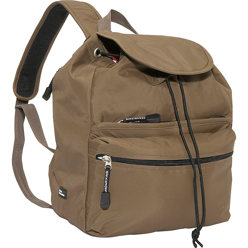 Derek Alexander Medium Backpack - Taupe - Backpacks, Everyday Backpacks