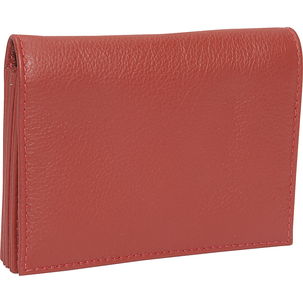 J. P. Ourse Cie. Accordion Case Wallet Berry Red