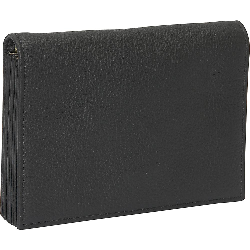 J. P. Ourse & Cie. Accordion Case Wallet - Black - Women's SLG, Women's Wallets