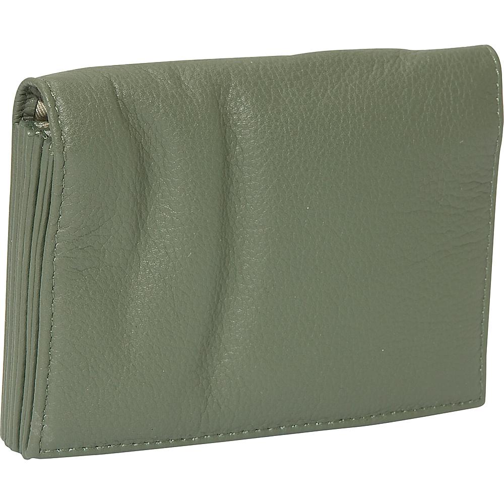 J. P. Ourse & Cie. Accordion Case Wallet - Sage - Women's SLG, Women's Wallets