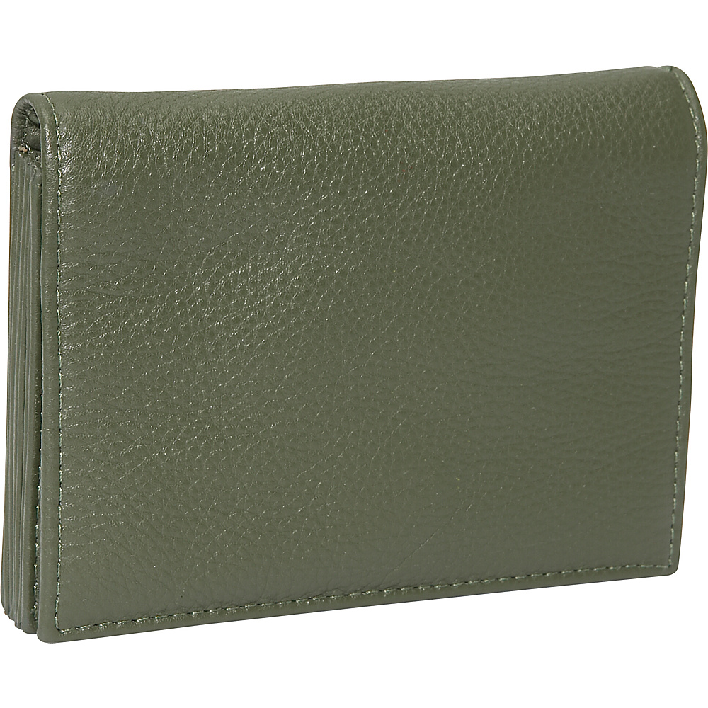 J. P. Ourse & Cie. Accordion Case Wallet - Olive - Women's SLG, Women's Wallets