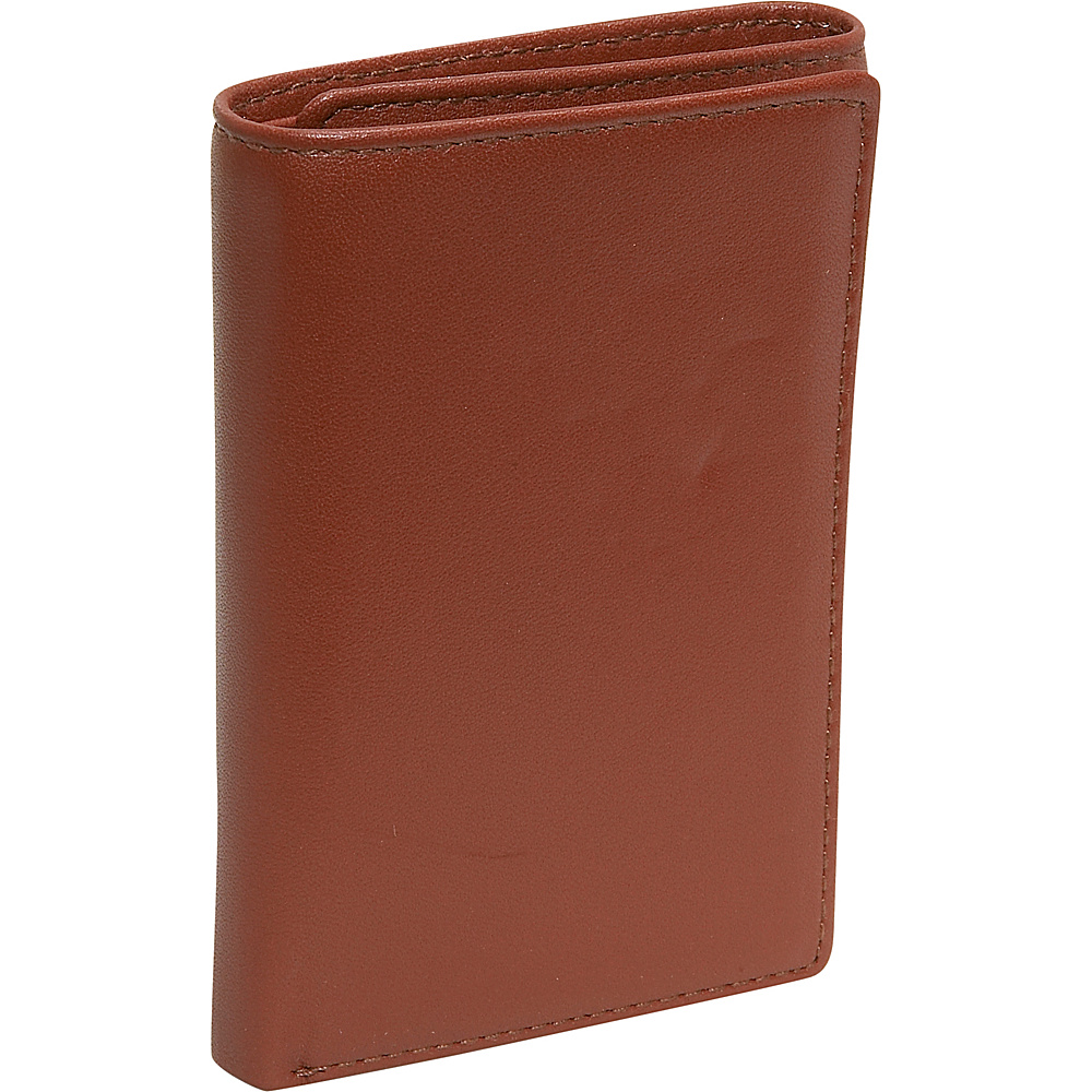 Budd Leather Cowhide Leather Trifold Wallet Brown