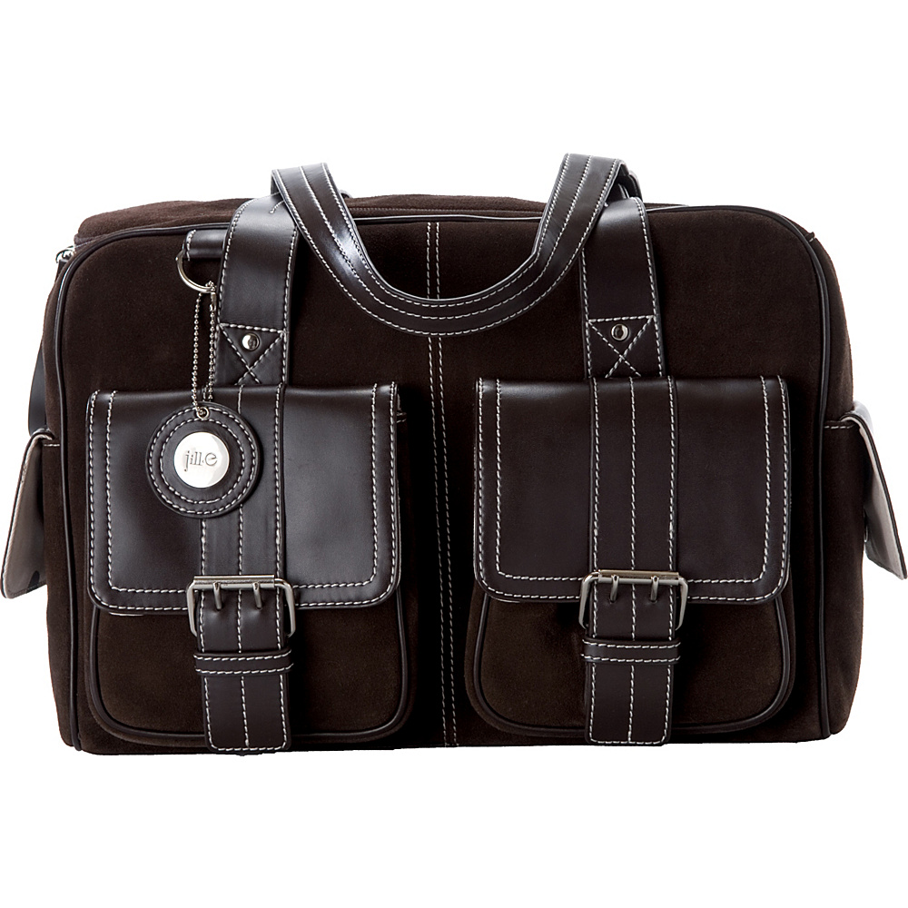Jill-E Medium Suede Camera bag - Chocolate Brown