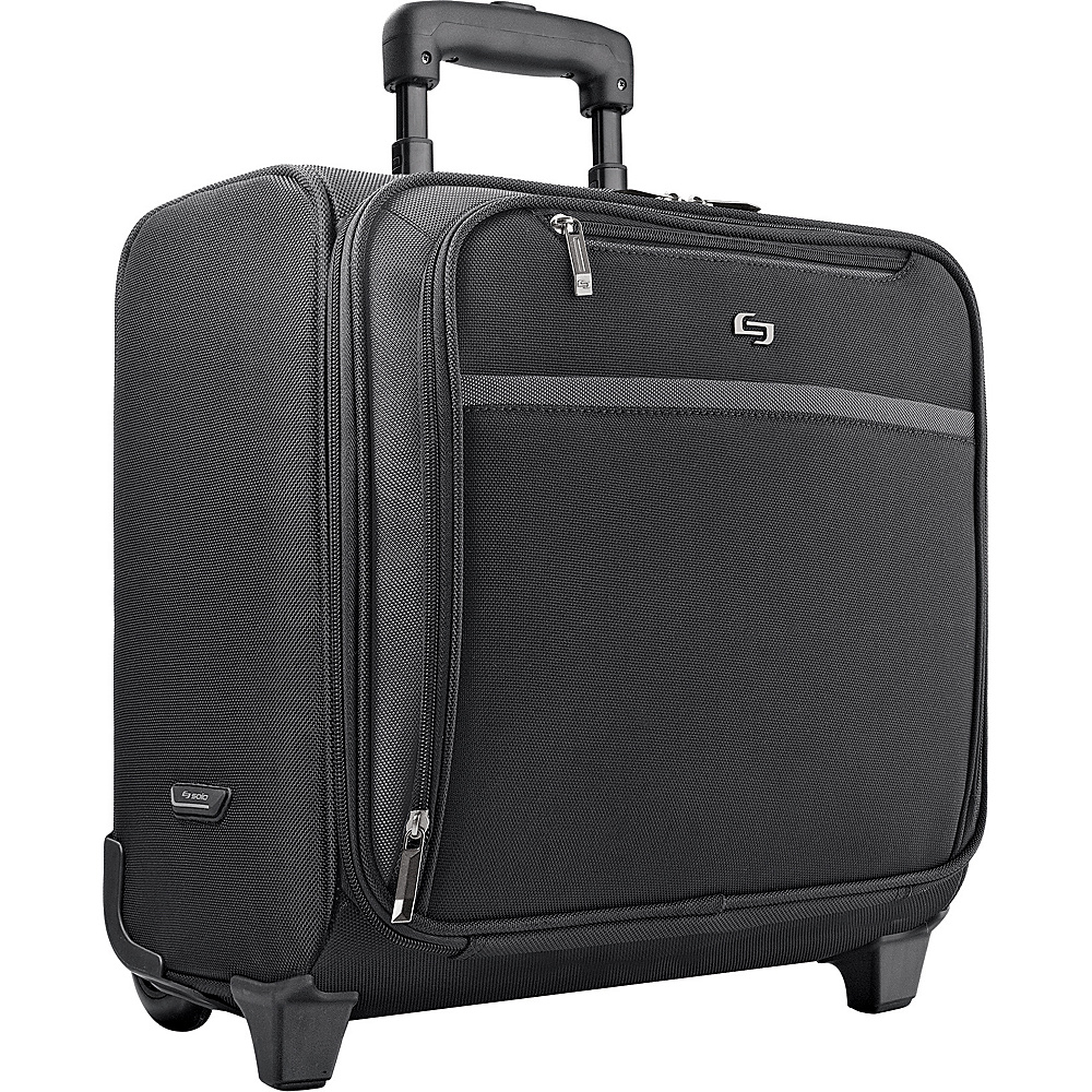 SOLO Sterling Rolling Laptop Overnighter - Black - Work Bags & Briefcases, Wheeled Business Cases