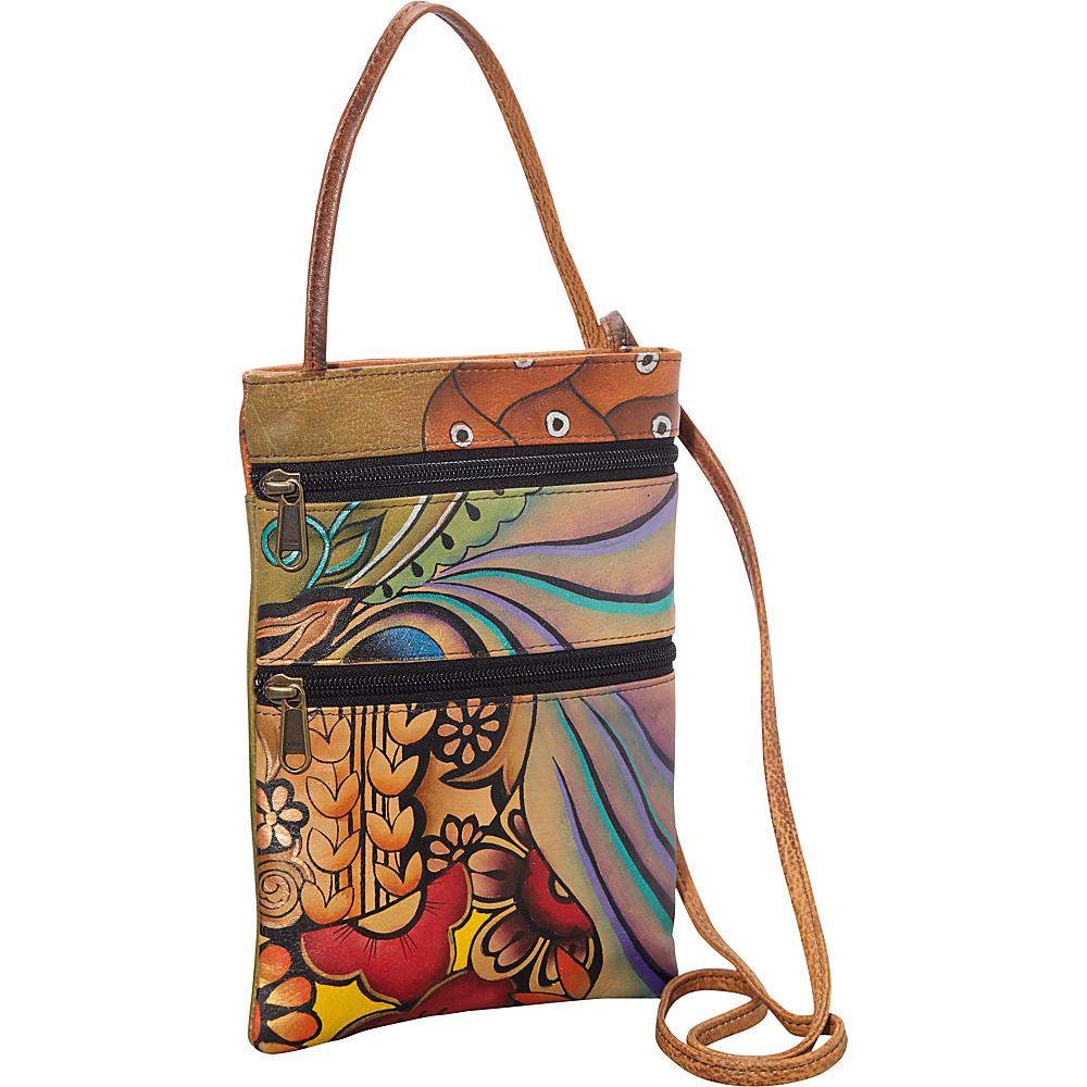 Anuschka Mini Travel Companion Crossbody Patchwork Garden Anuschka Leather Handbags