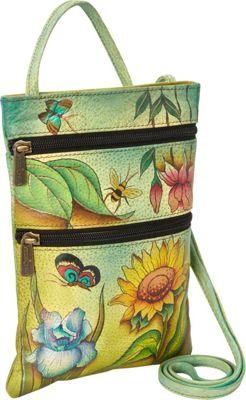 Anuschka Mini Travel Companion Crossbody Floral Dreams - Anuschka Leather Handbags