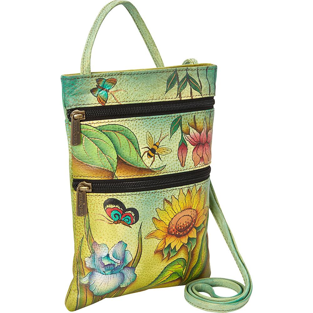 Anuschka Mini Travel Companion Crossbody Floral Dreams Anuschka Leather Handbags
