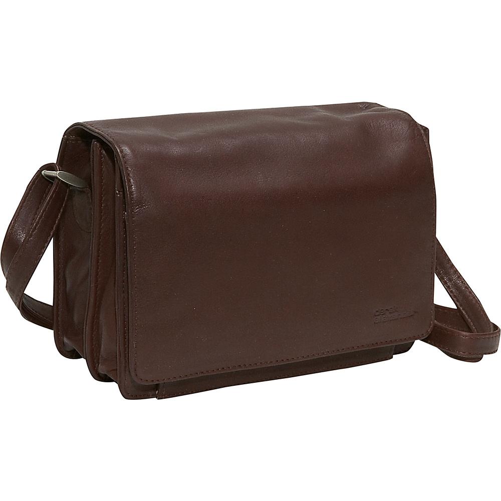 Derek Alexander Full Flap Organizer - Brown - Handbags, Leather Handbags
