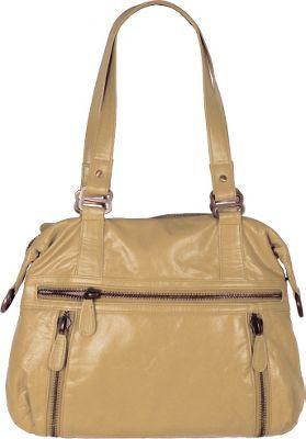 Latico Leathers Hazel Shoulder Bag Almond - Latico Leathers Leather Handbags