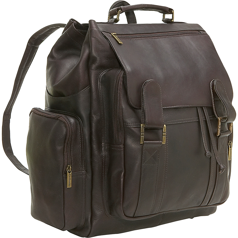Le Donne Leather Large Traveler Back Pack - Caf - Backpacks, Everyday Backpacks