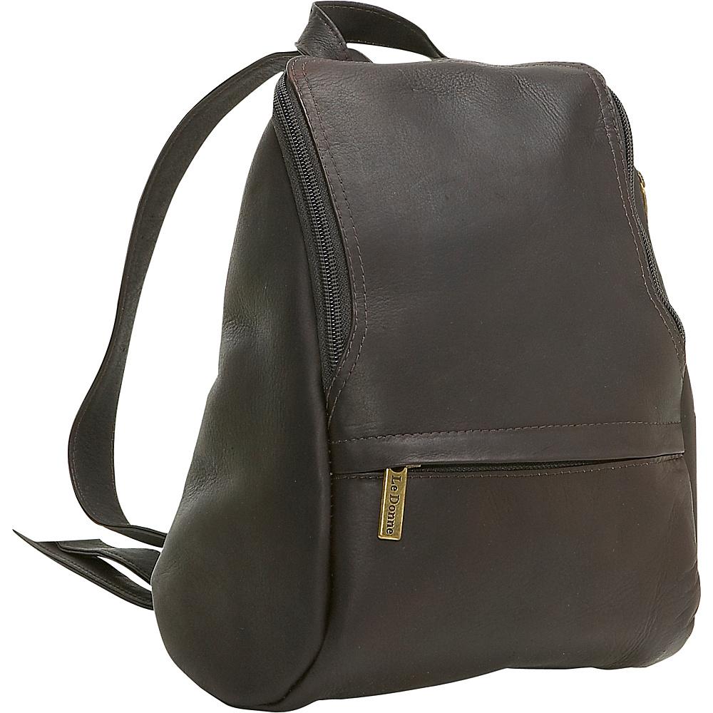 Le Donne Leather U-Zip Mini Back Pack - Caf - Handbags, Leather Handbags