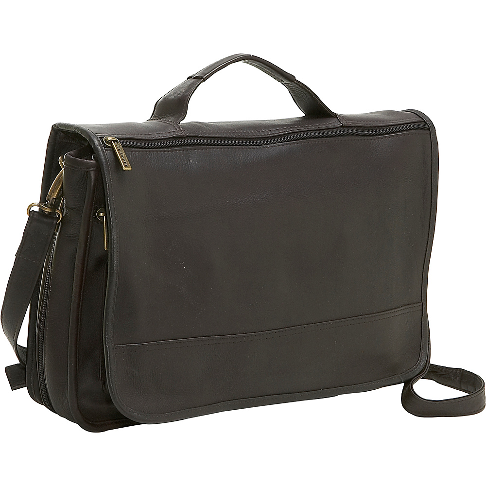 Le Donne Leather Expandable Messenger - Caf - Work Bags & Briefcases, Messenger Bags