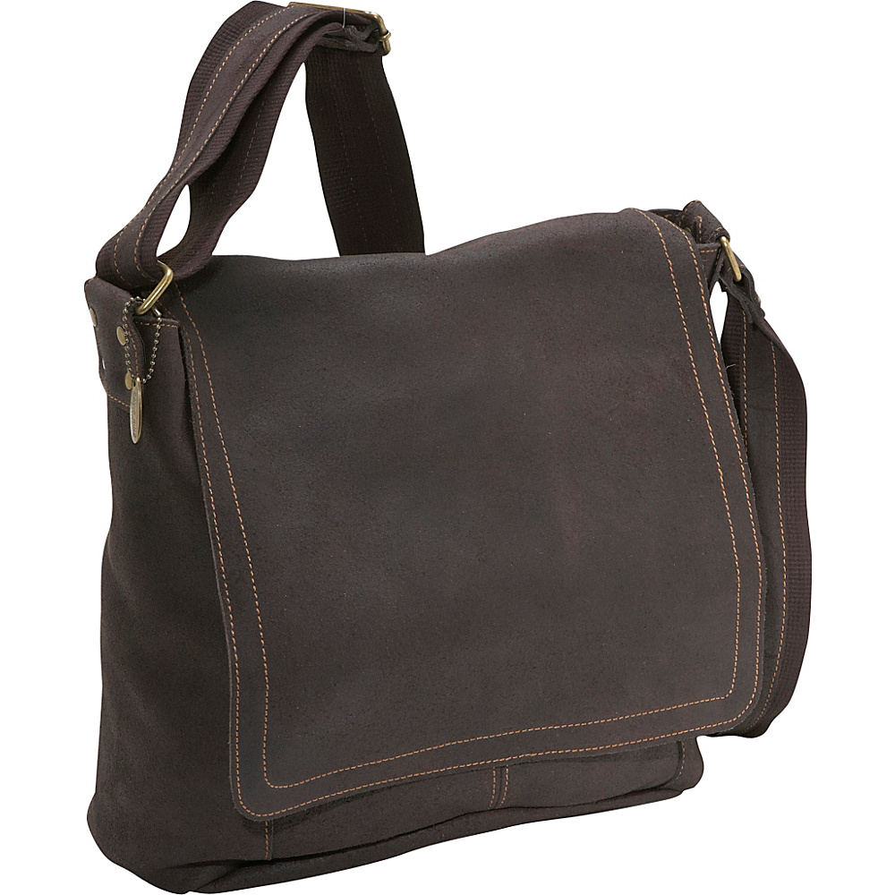David King & Co. Distressed Leather Messenger Bag - Work Bags & Briefcases, Messenger Bags
