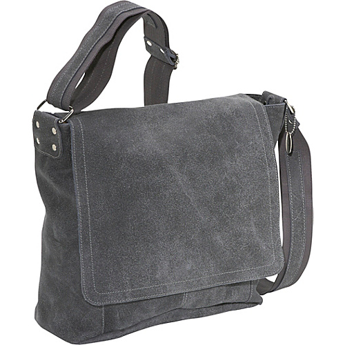 David King & Co. Vertical Simple Distressed Leather Messenger Bag Distressed Grey - David King & Co. Messenger Bags