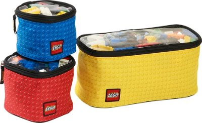 LEGO 3-Piece Toy Organizer Cubes - Yellow Gold with