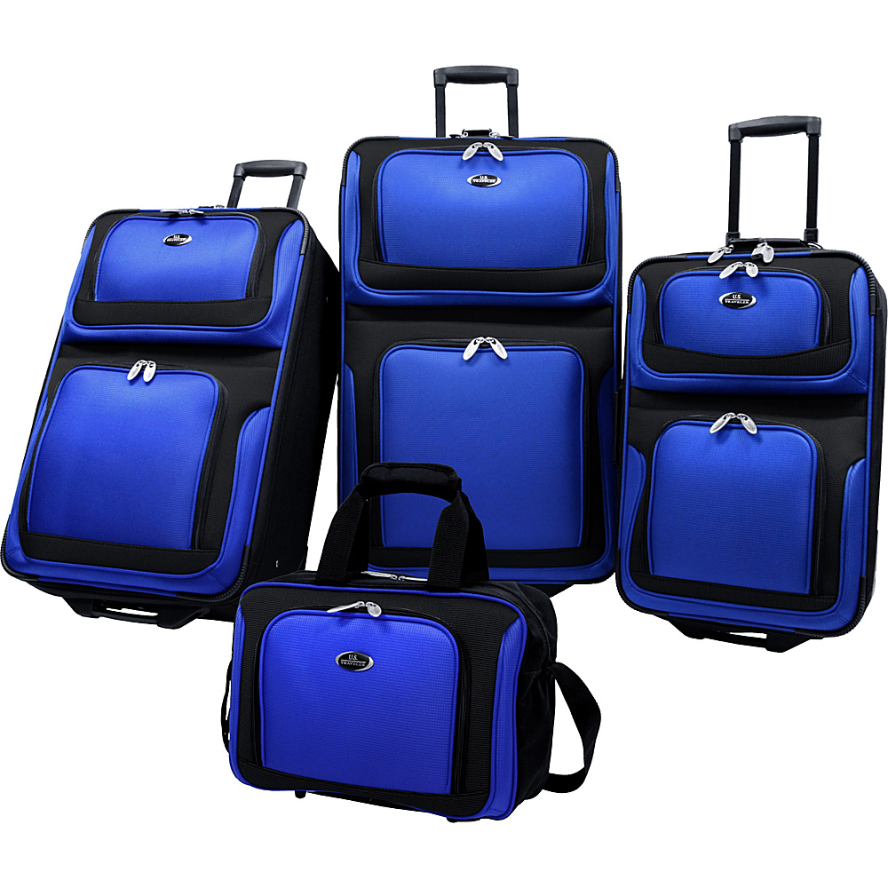 U.S. Traveler New Yorker 4-Piece Luggage Set - Navy - Luggage, Luggage Sets