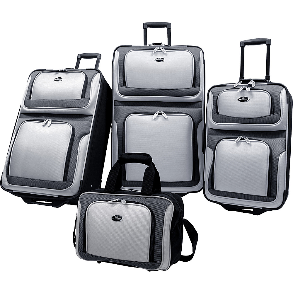 U.S. Traveler New Yorker 4-Piece Luggage Set - Gray - Luggage, Luggage Sets