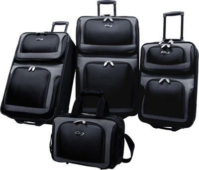 U.S. Traveler New Yorker 4-Piece Luggage Set - Black