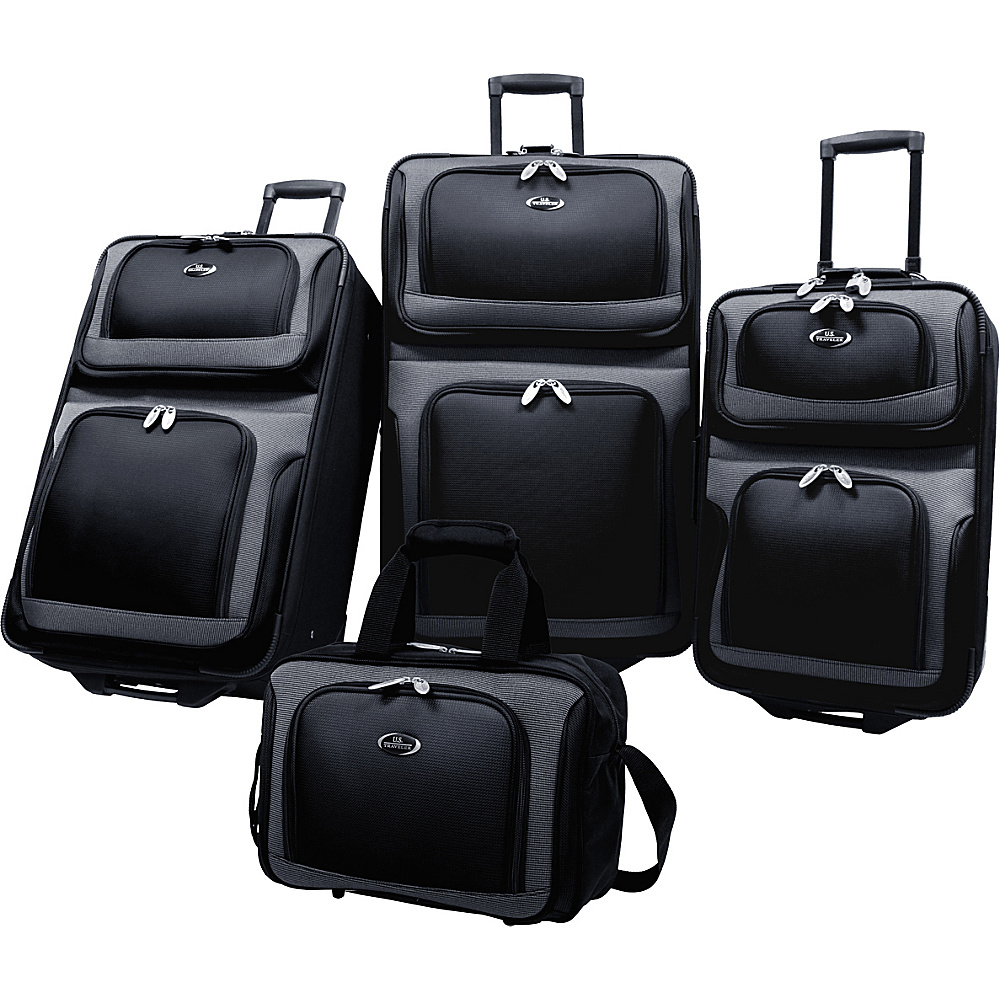 U.S. Traveler New Yorker 4-Piece Luggage Set - Black - Luggage, Luggage Sets