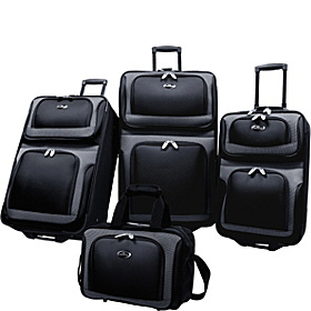 New Yorker 4-Piece Luggage Set Black
