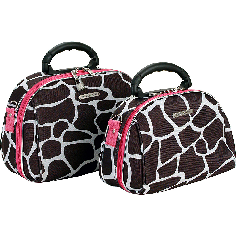 Rockland Luggage 2 Piece Cosmetic Case Set - Pink