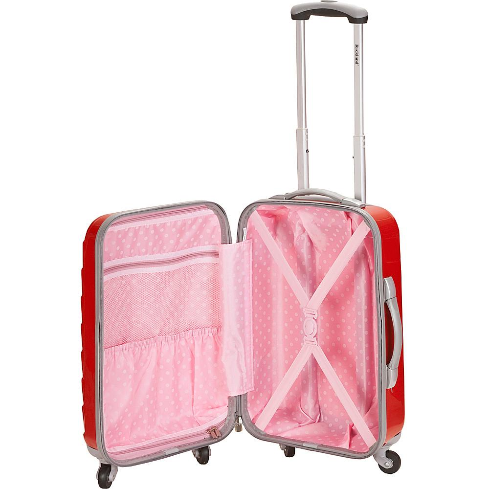 Rockland Luggage 3 Piece Celebrity Hardside Spinner Set Purple - Rockland Luggage Luggage Sets