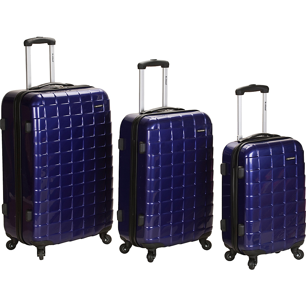Rockland Luggage 3 Piece Celebrity Hardside Spinner Set Purple - Rockland Luggage Luggage Sets