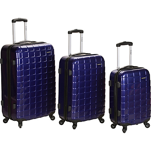 Rockland Luggage 3 Piece Celebrity Hardside Spinner Set Purple - Rockland Luggage Hardside Luggage