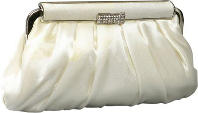 Coloriffics Handbags Pleated Satin Evening Bag - Clutch