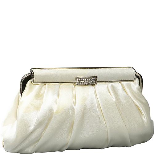Coloriffics Handbags Pleated Satin Evening Bag - Clutch