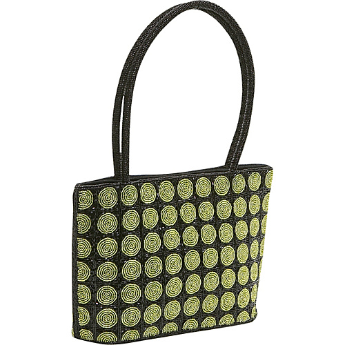 Global Elements Beaded Polka Dot Handbag