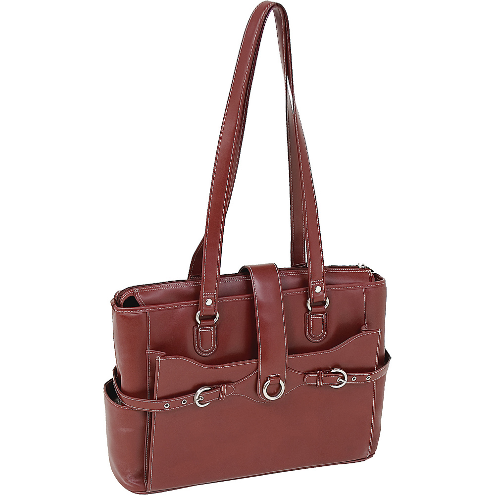 McKlein USA Isabella Leather 15.4 Ladies Briefcase - - Work Bags & Briefcases, Women's Business Bags