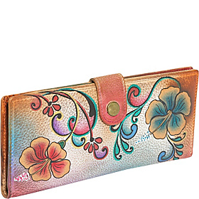 Ladies Two Fold Wallet: Henna Floral Henna Floral