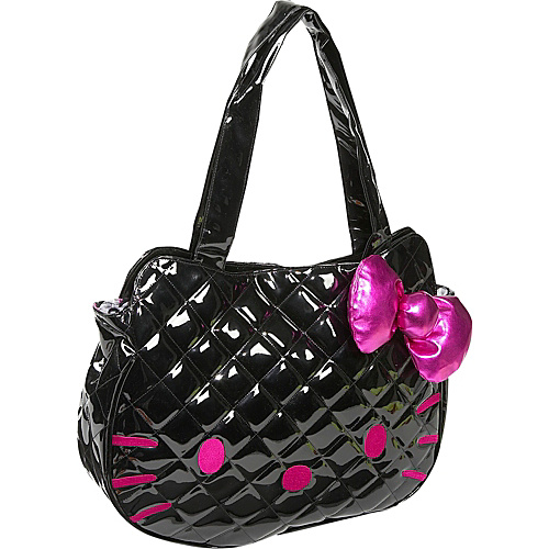 Loungefly Hello Kitty Black Quilted Face Bag - Tote