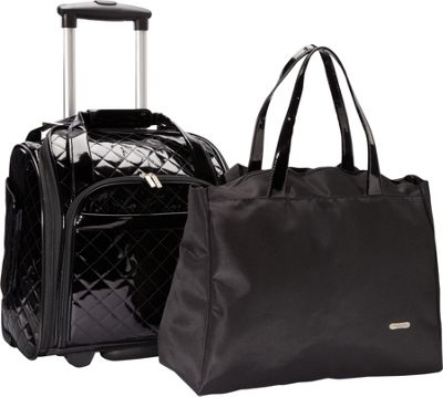 Travelon Wheeled Underseat Carry On With Back Up Bag