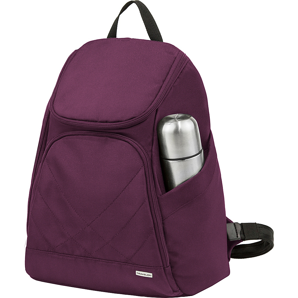 Travelon Anti-Theft Classic Backpack - Exclusive Colors Plum - Exclusive Color - Travelon Everyday Backpacks - Backpacks, Everyday Backpacks