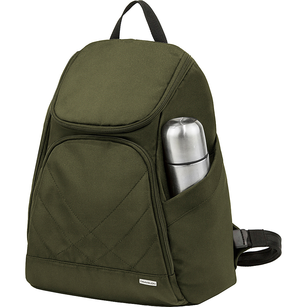Travelon Anti-Theft Classic Backpack - Exclusive Colors Olive - Exclusive Color - Travelon Everyday Backpacks - Backpacks, Everyday Backpacks