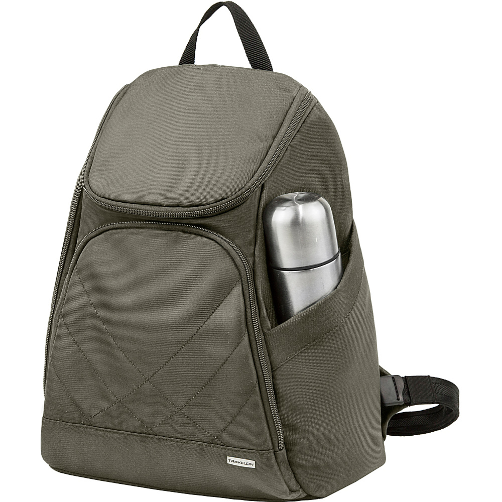 Travelon Anti-Theft Classic Backpack - Exclusive Colors Charcoal - Exclusive Color - Travelon Everyday Backpacks - Backpacks, Everyday Backpacks