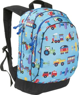 Wildkin Olive Kids Trains Planes & Trucks Sidekick Backpack