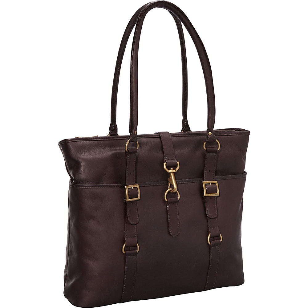 ClaireChase Ladies Computer Bag - Cafe - Work Bags & Briefcases, Women's Business Bags