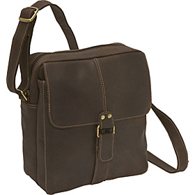Distressed Leather Men's Bag Chocolate