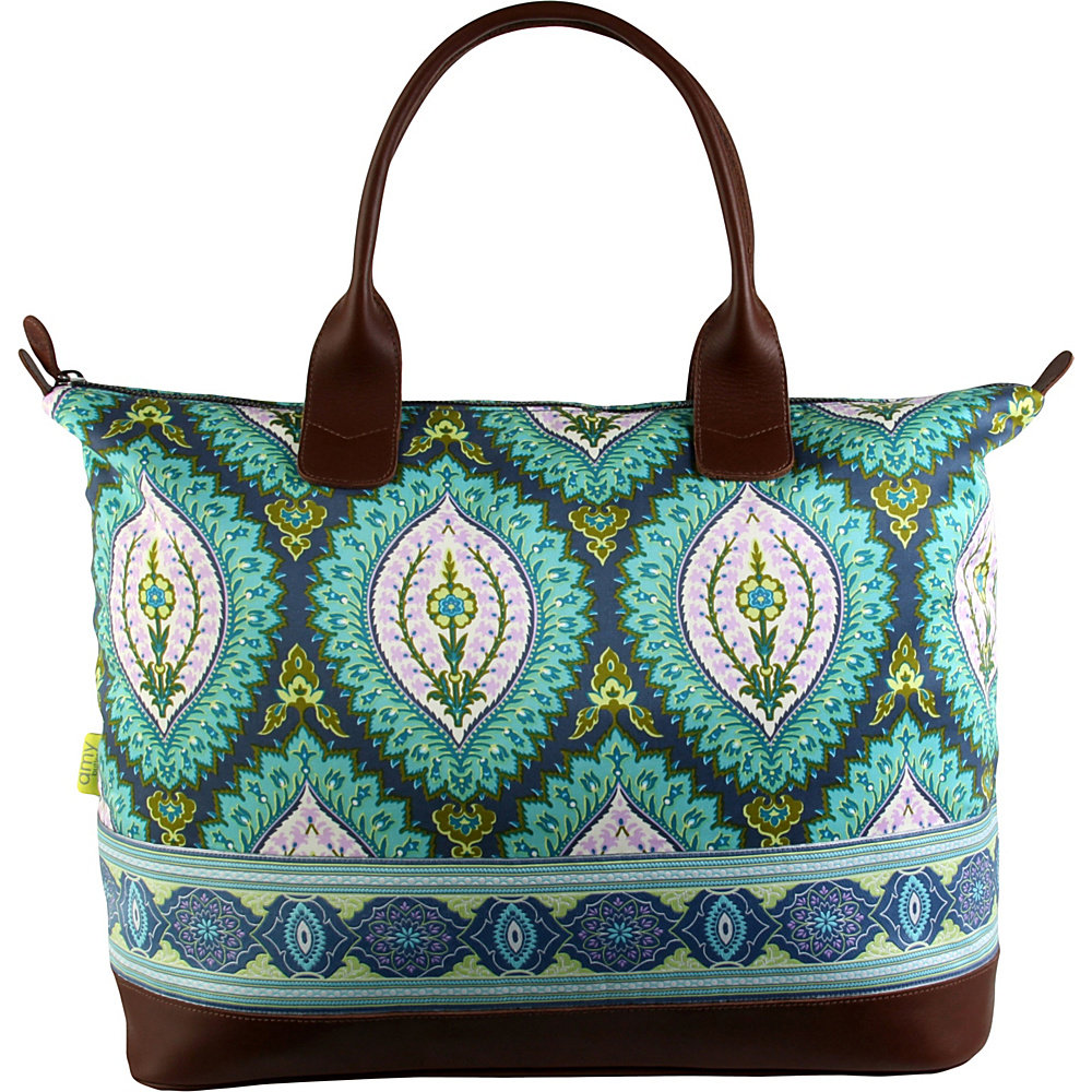Amy Butler for Kalencom Marni Duffel Bag Imperial Paisley Clover - Amy Butler for Kalencom Fabric Handbags