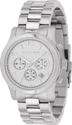 Michael Kors Watches Silver Chronograph Runway - Silver